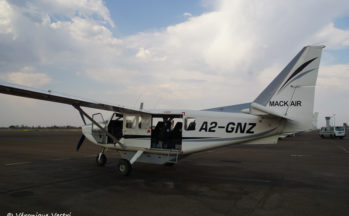 Maun, aéroport - Départ survol du Delta de l'Okavango avec un Cessna (Botswana)