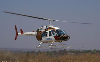 Chutes Victoria, Survol en hélicoptère (Zimbabwe)